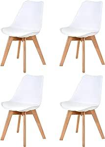 Ellexir Pack de 4 sillas,Tulip Sillas de Comedor Sillas Cocina ...