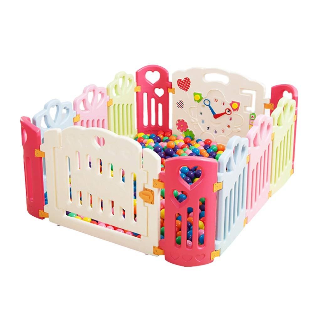 ベビーフェンス屋内フェンス子供の屋外の遊び場の赤ちゃんクロール幼児のガードレールの健康と無味 (サイズ さいず : 104*142cm) 104*142cm  B07PXLKKMC