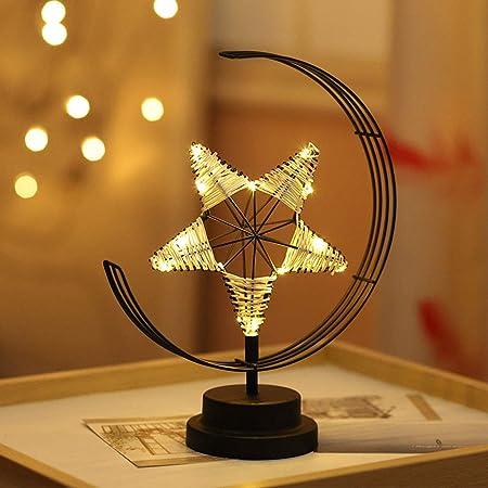 Cinco Puntas Luz del Escritorio De La Fiesta De Navidad Star ...