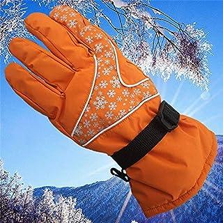 HATCHMATIC Donne d'Acqua Guanti Resistenti Inverno Neve Outdoor Sci SY Finger Caldi Guanti: Arancione