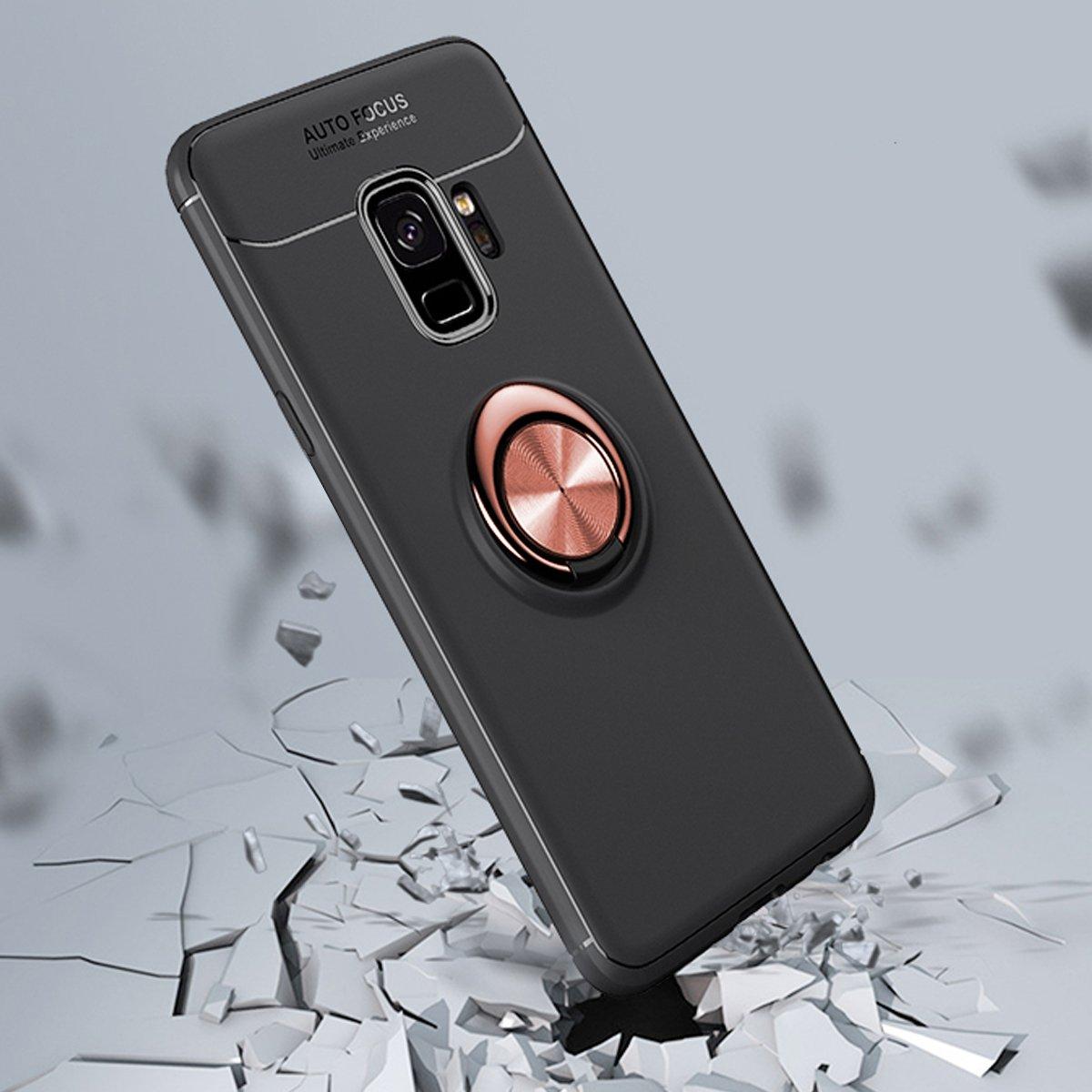 GerTong Soporte para Anillo de Dedo Delgada y Suave Soporte Ajustable para Anillo de 360/º Soporte magn/ético para Coche para Samsung S9 Funda para Samsung Galaxy S9