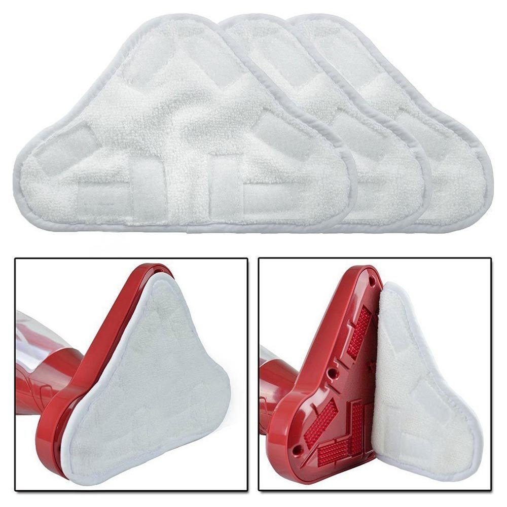 SODIAL NEW SET OF 6 MICROFIBRE STEAM MOP FLOOR WASHABLE REPLACEMENT PADS FOR H2O H20 X 5