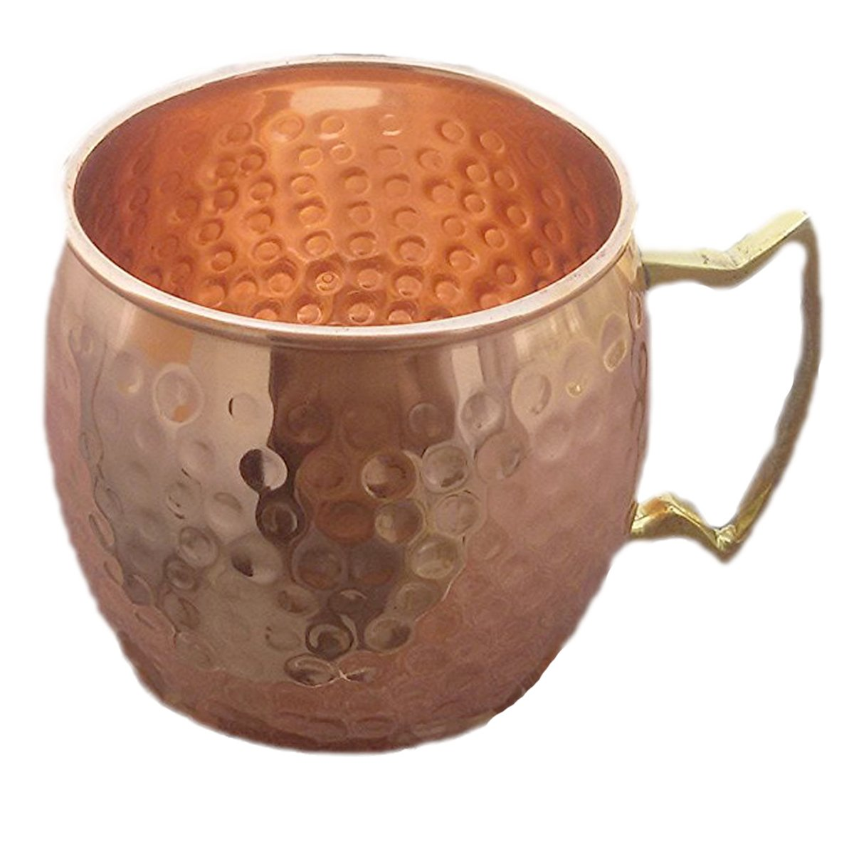 PARIJAT HANDICRAFT Handcrafted Moscow Mules Copper Mugs 100/% Pure Copper Solid Moscow Mule Mug 24 Ounce Extra Large Size No Lining Hammered Finish with Brass handle 8V-PYAN-YRE0