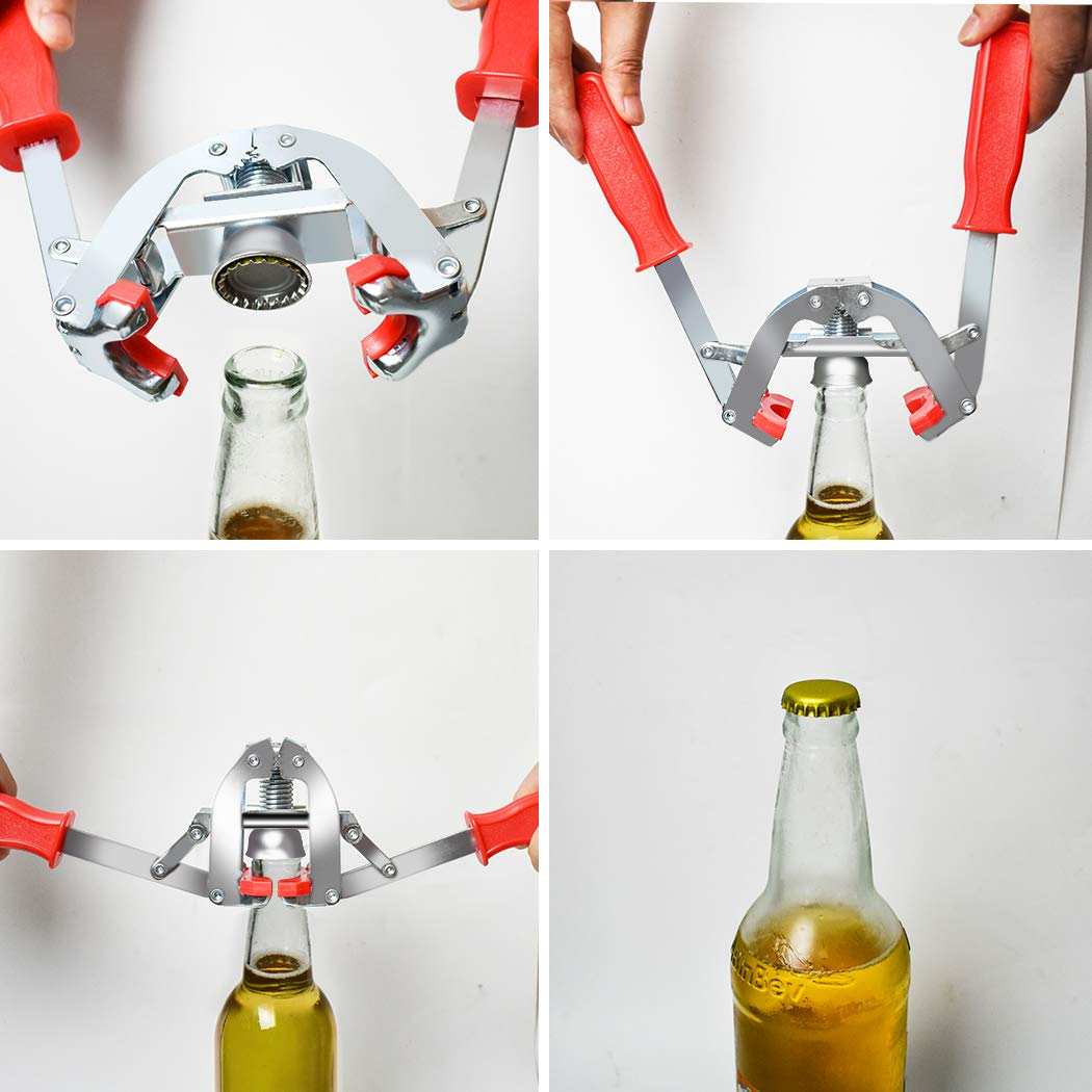 Manual Bottle Capper Tool Bottle Capper-1 Bottle Sealer Double Lever Hand Capper with 144 count Beer Bottle Caps for Home Brewing