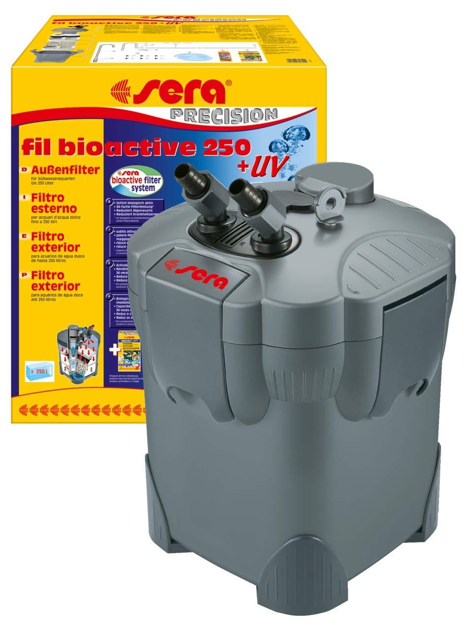 Sera Fil Bioactive Filtro Externo para Acuario con lámpara UV-C de 5 W integrada Que Reduce el Crecimiento de patógenos, parásitos y Algas