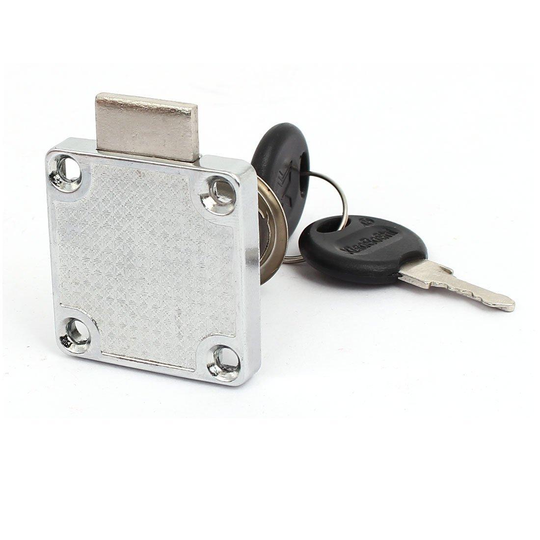Diámetro 19 mm eDealMax cilindro de metal zócalo cuadrado cerradura del cajón del armario de plata del tono w 2 Llaves - - Amazon.com