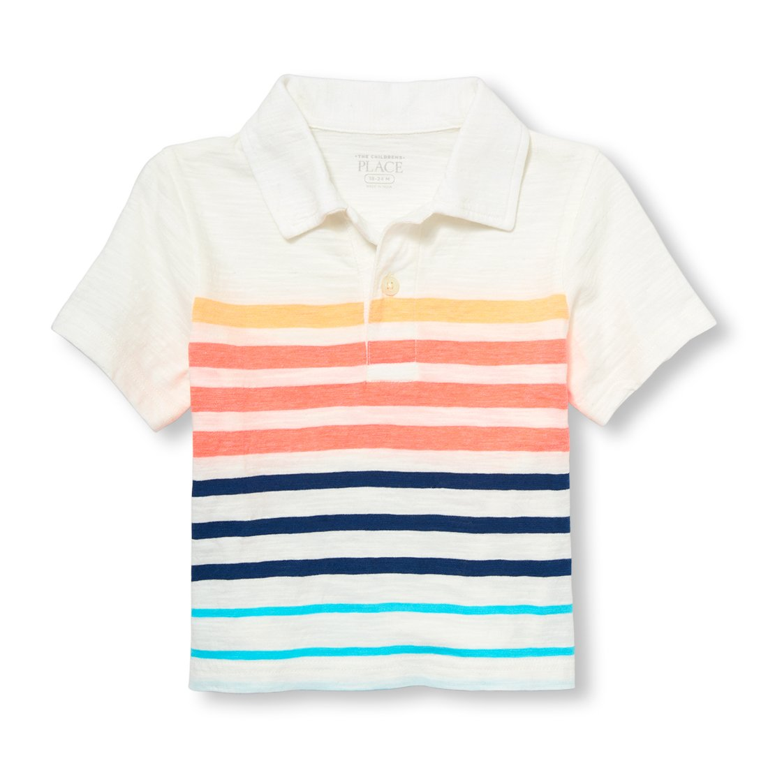 The Childrens Place Baby Boys Short Sleeve Stripe Jersey Polo