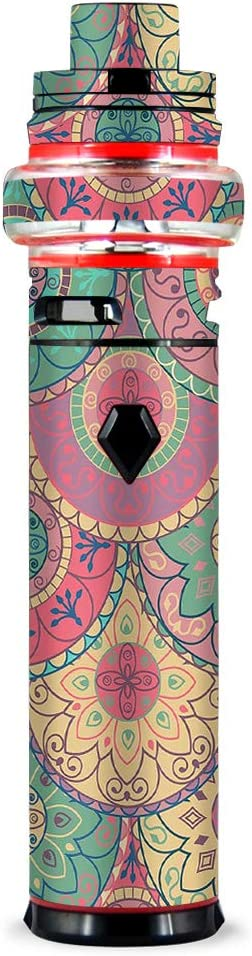 IT'S A SKIN Decal Vinyl Wrap Compatible with Smok Stick V9 MAX Kit Sticker Sleeve Cover/Circle Mandala Design Pattern
