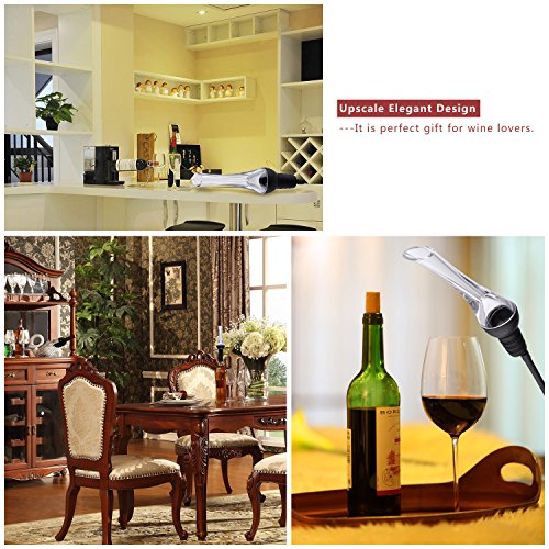 Wine Aerator Pourer,  Premium Aerating Pourer and Decanter Spout, Breather Excellent for Whiskey by MOSPRO (Image #5)