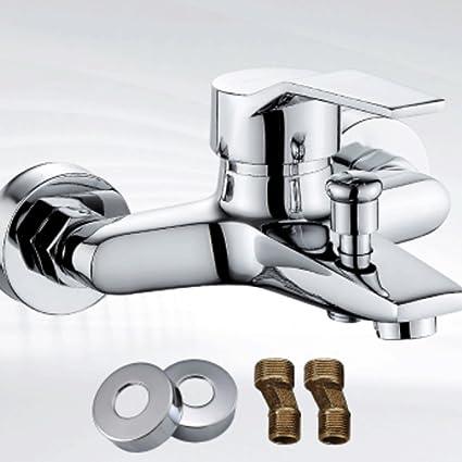 Grifo Ducha aleación de baño interruptor caliente y fría oculto ducha baño válvula mezcladora calentador de