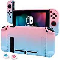 Cybcamo Protective Case Cover for Nintendo Switch, Hard Shell Case Handheld Grip for Nintendo Switch Console and Joy-Con Controllers with 2 Thumbsticks (Pastel Pink & Blue)