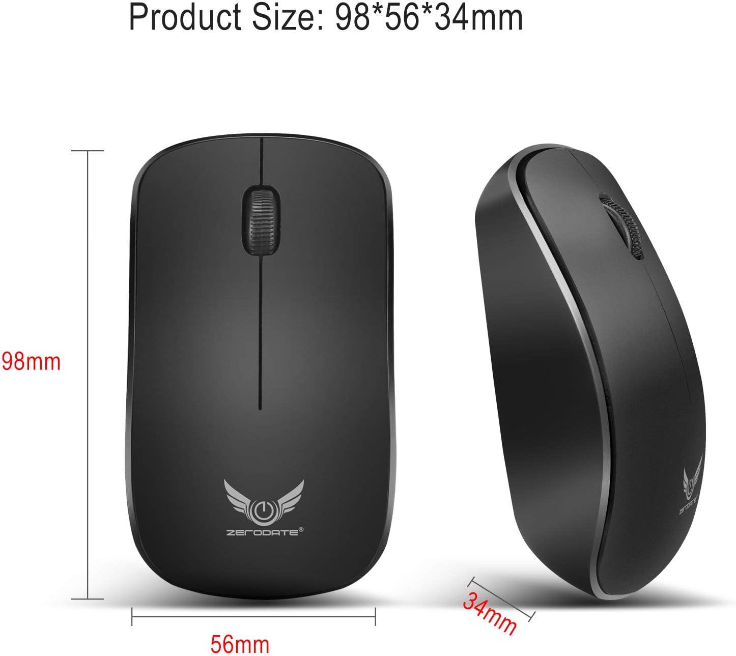 Red tide 2.4G draadloze muis mini muis, 3 toetsen ABS 1600Dpi ergonomische optische muis, geschikt voor laptop business Office muis zwart