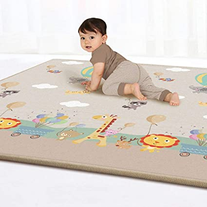 Cute Cartoon Baby Crawling Pad Thickening Round Child Play Game Mat Children Developing Carpet Toys Reasonable Price Activity & Gear Baby Gyms & Playmats