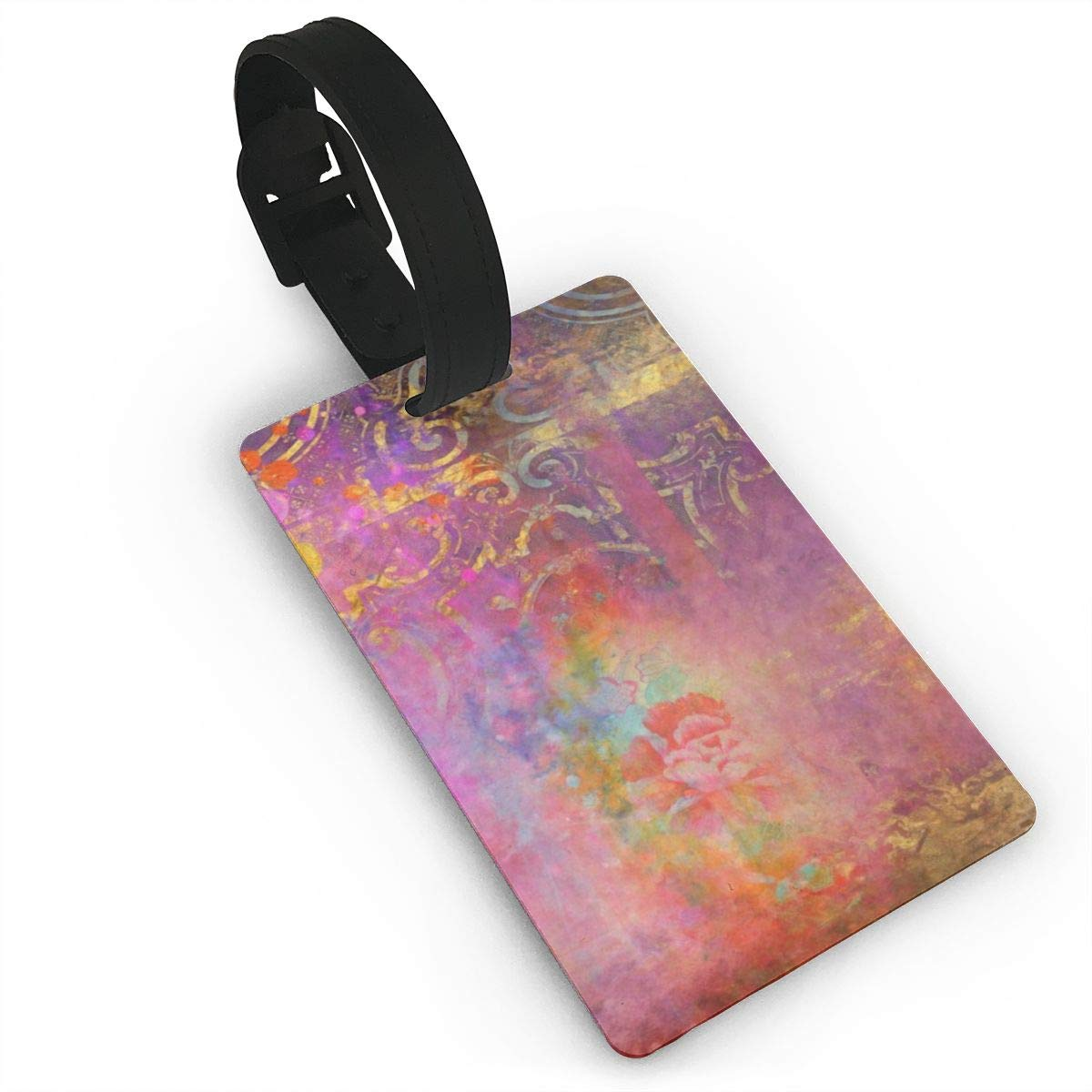 Set of 2 Boho rose Luggage Tags Suitcase Labels Bag Travel Accessories
