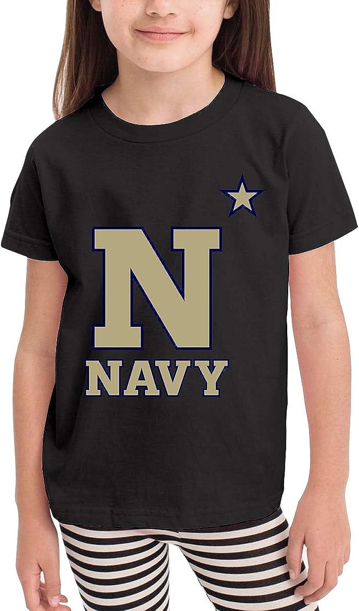 HUCON US Navy Naval Academy Little Baby Girls Boys T Shirt Cute Crew Neck Cotton Tops