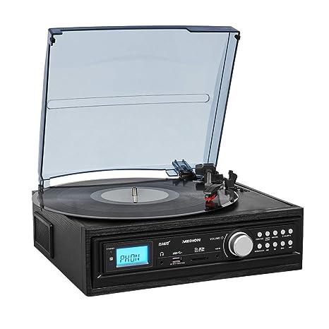 MEDION e69468 Tocadiscos con Altavoz (LP Vinilo, pletina MC ...