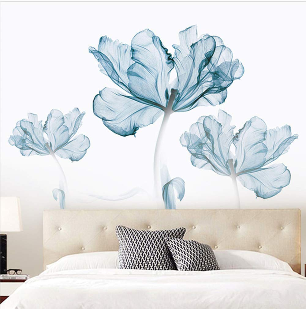 DERUN TRADING Wall Stickers & Murals Home Décor Home Décor Accents for Living Room Flower Wall Decals Home Improvement Paint Wall Treatments Wall Decals Murals Decor Vinyl Removable Mural Paper … by DERUN TRADING (Image #5)