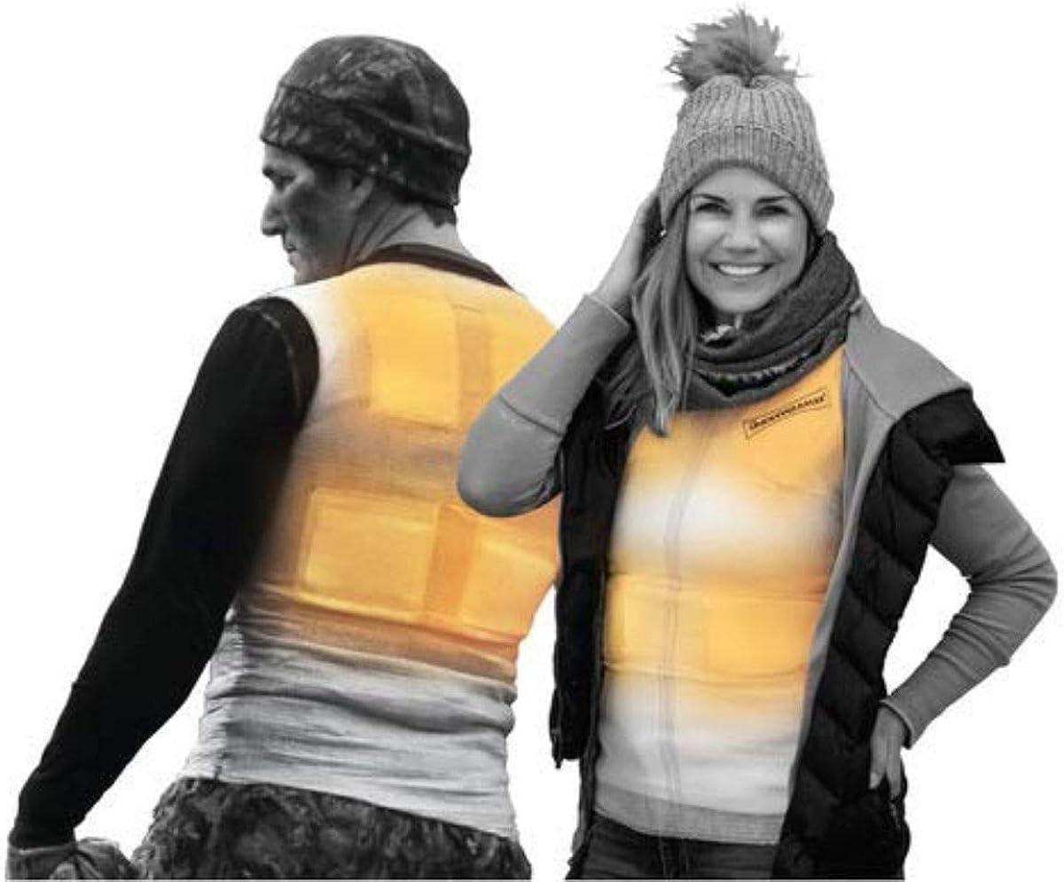 Underwarmer Heated Shirt, Compression Baselayer, 8 Built in Heat Packs, Body Warmer: Clothing