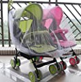 Home Cal Baby Mosquito Net for Baby Twin/Double Strollers White Universal Size