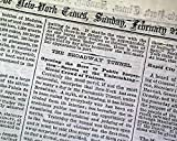 1ST New York City SUBWAY Alfred Ely Beach Pneumatic Transit OPENS 1870 Newspaper THE NEW YORK TIMES, February 27, 1870
