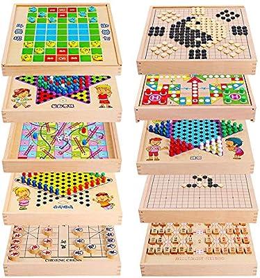 Ludo Juego Set Backgammon multiuso Puzzle infantil de ajedrez 10 ...
