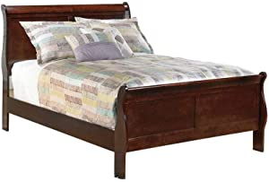 Ashley Furniture Signature Design - Alisdair Full Sleigh Headboard/Footboard - Component Piece - Dark Brown
