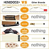 Knidose Beginners Bow and Arrow For Kids | 36 Pieces Safe Archery Set Outdoor or Indoor Fun, Handcrafted Wooden 1 Bow, 15 Arrows, 15 Target Sheets, 1 Quiver, 2 Arm and 2 Finger Guards for Shooting Toy