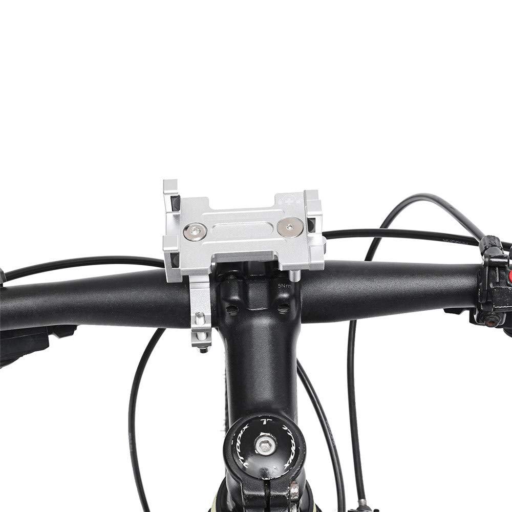 YONGYAO 360 Degree Rotating Aluminium Alloy Motorcycle Bicycle Handlebar Mount Phone Holder-Blue