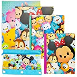 Tsum Tsum Back to School Supply Stationery Set | Spiral Notebook, Subject Composition Book, 2-Pocket Folder, 3-Ring Pencil Pouch Case | Pre-School Elementary First Second Third Fourth Grades (Tsum)