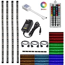 LED TV Backlight Kit, Topled Light® 4x1.64ft Bias Lighting RGB Color Changing with 44Keys Remote + Power Adapter LED Strip Backlight Kit for HDTV Flat Screen LCD, Desktop PC(Backlight Kit))