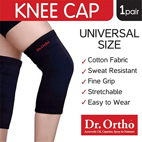 7d173e9979 Buy Dr Ortho Knee Cap (Black, Universal Size Knee Cap for Knee Support,  Gym) Online at Low Prices in India - Amazon.in