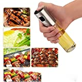 Oil Sprayers, Flight Olive Oil Sprayer Mister Oil Spray Bottle Portable Transparent Glass Spray Bottle Vinegar Bottle Oil Dispenser Seasoning Kitchenware Tools (transparent)