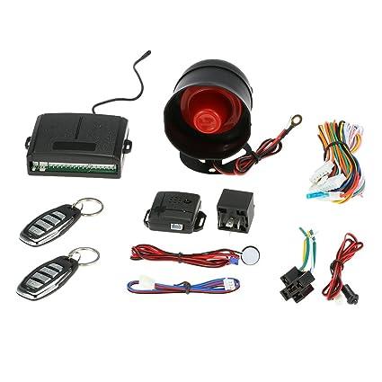 KKmoon Sistema de Alarma con 1 Way para Coches con Alarma Mando a Distancia y 2 34f8f7