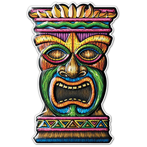 Luau Voodoo TIKI HEAD MASK Door Yard Sign Wall Hanging Totem Party (Tahitian Mask)