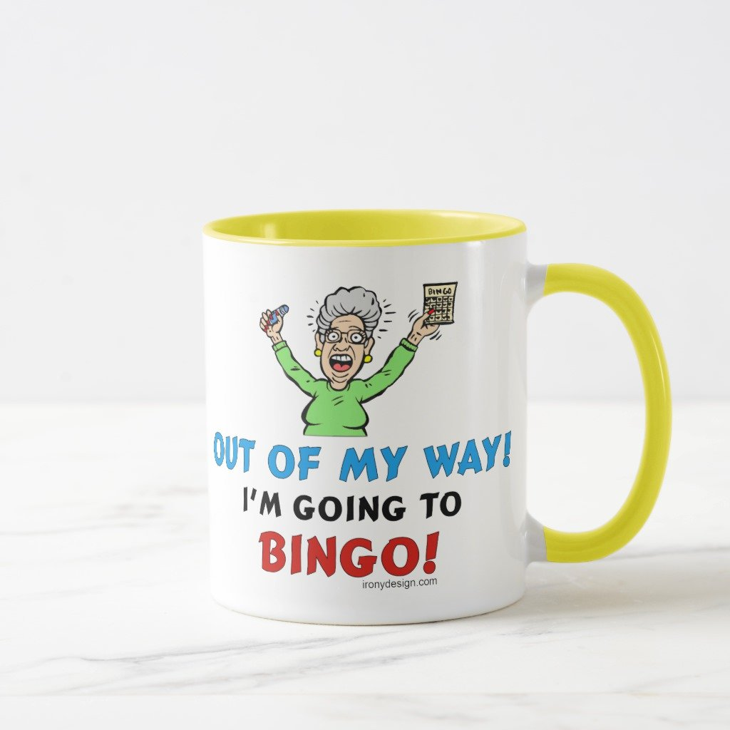 Zazzle Bingo Lovers Mug, Yellow Combo Mug 11 oz
