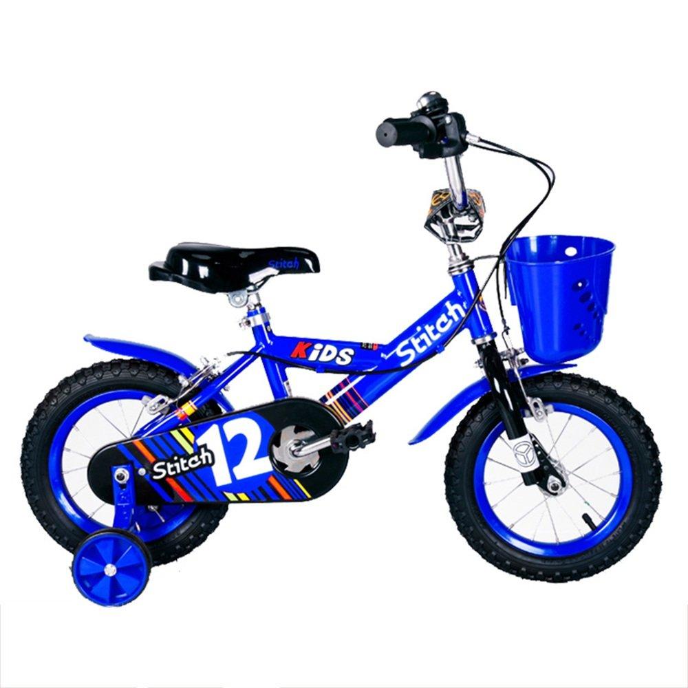 HAIZHEN マウンテンバイク ボーイズキッズバイクレッド/ブルー、スチールフレーム、1速調整可能なリーチレバーパドルコンフォートサドル 新生児 B07C6RJ9H9 16Inch|青 青 16Inch