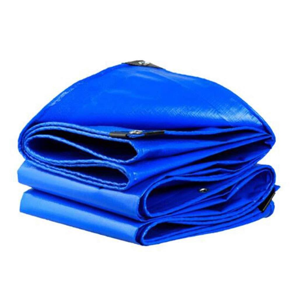 DALL 防水シート180 G/M²0.35 Mm厚い防水抗UV雨防止アンチエイジング折りたたみ式金属ボタンホール (Color : 青, Size : 4×6m) 青 4×6m