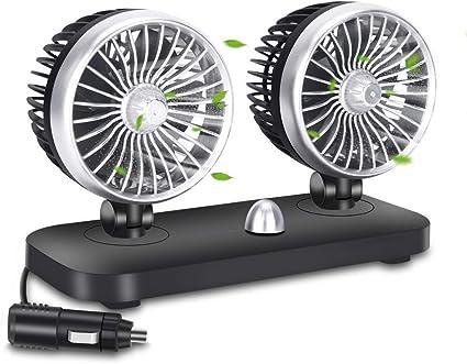 BangShou Ventilador de Coche 12V Ajustables ventilador de ...