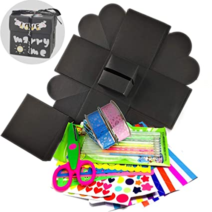 amazon com eliteguard diy exploding gift box scrapbook photo album