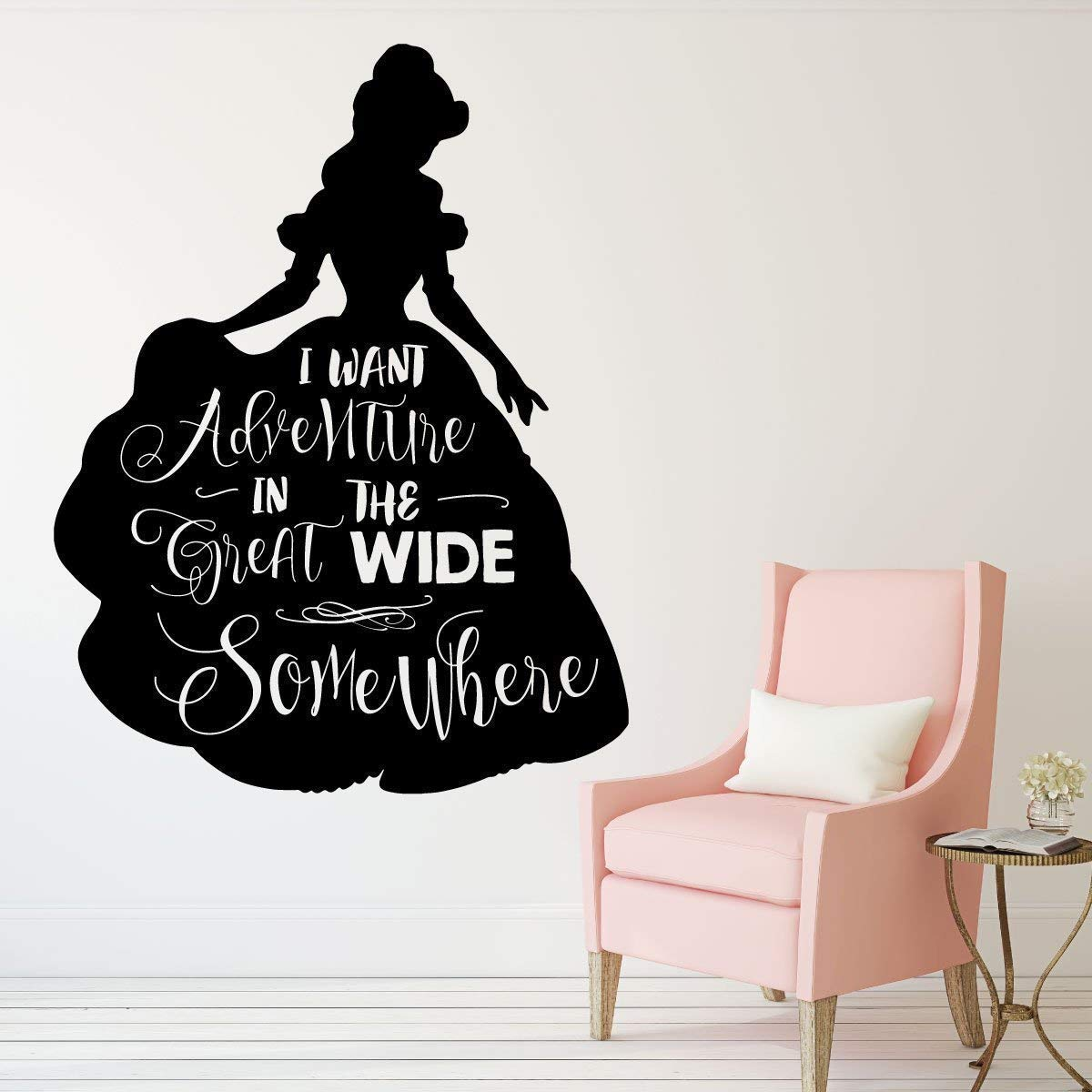 bedroom home decor Set 4 beauty and the beast quote prints nursery