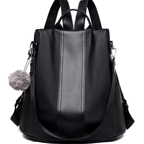 2b36c09b98b7 FAIRYSAN Women Leather Backpack Girls School Waterproof Rucksack  Lightweight Laptop Anti Theft Nylon Knapsack Shoulder Bags