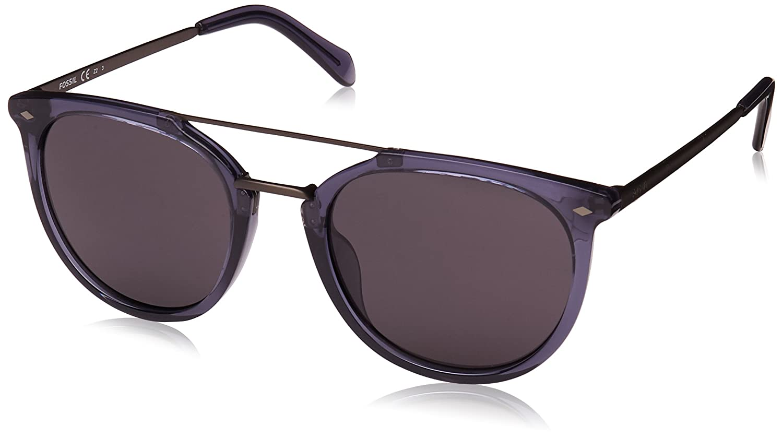 a0a9fc74db Amazon.com  Fossil Fos 3077 s Round Sunglasses BLUESILV 53 mm  Clothing