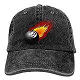 LETI LISW Billiard BallWashedDenim Cap Adult Unisex Adjustable Hat