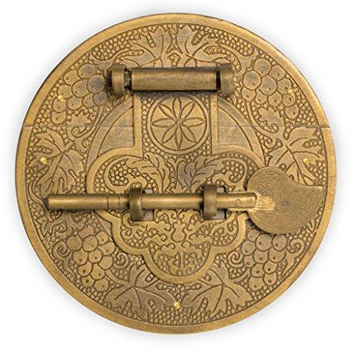 "CBH Longevity Brass Plate Chest Box Latch Decorative Hardware 4"""