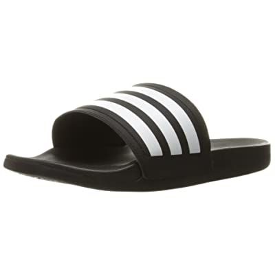adidas Womens' Shoes | Adilette CF Ultra Stripes Athletic Slide Sandals, White/Black, ((11 M US) | Shoes
