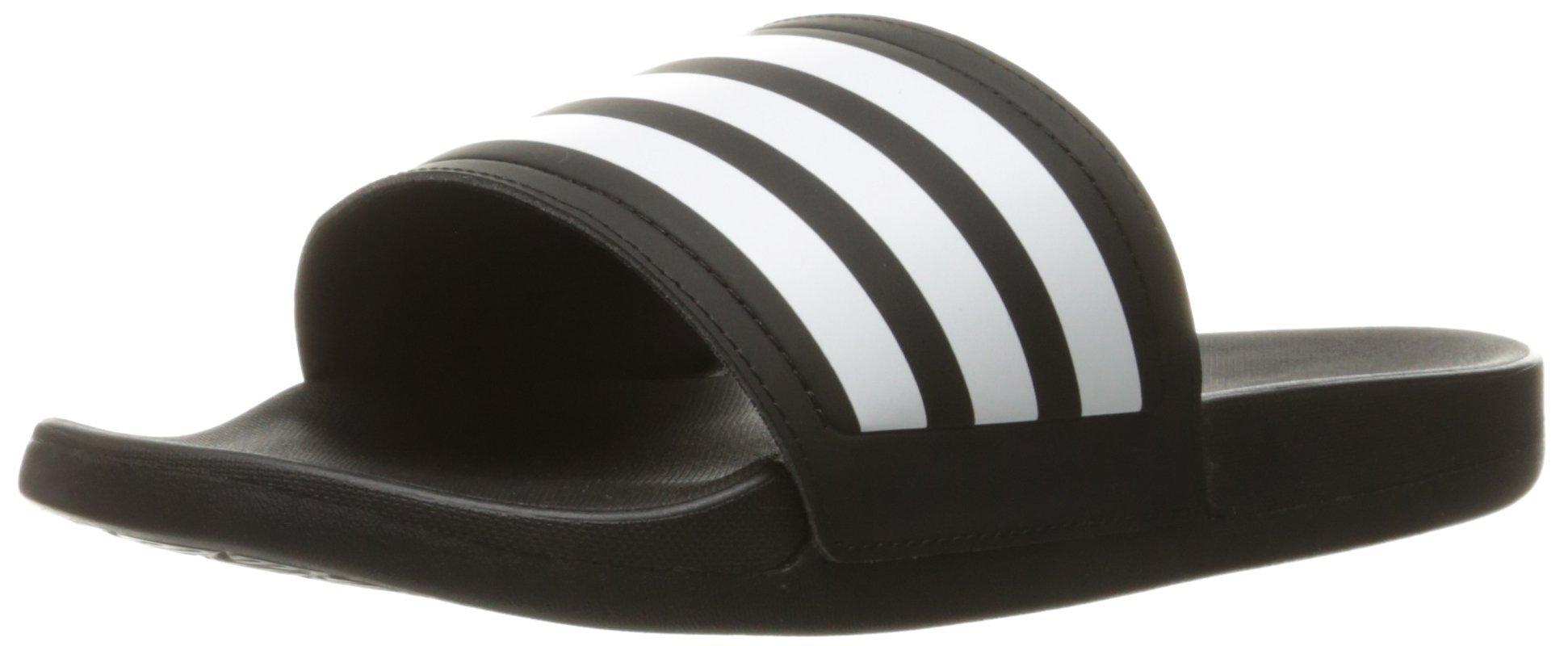 adidas Womens' Shoes   Adilette CF Ultra Stripes Athletic Slide Sandals, Black/White/Black, (8 M US)