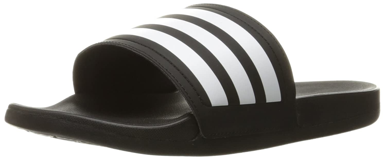 adidas Performance Women's Adilette CF Ultra Stripes C W Athletic Sandal B019EM5UMM 7 M US|Black/White/Black