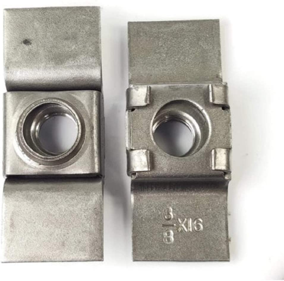 Plain Steel Retainer Weld Nuts 3//8-16 QTY 250