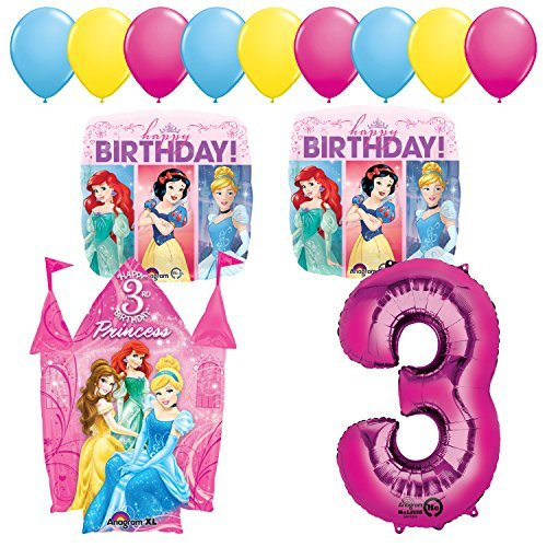 (Princess Party 3rd Birthday Party Supplies and Balloon)