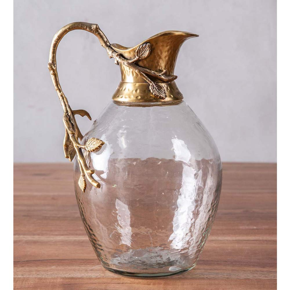 Vivaterra Large Glass Decanter with Branch Handle - 9.25 H x 6 Dia by Vivaterra